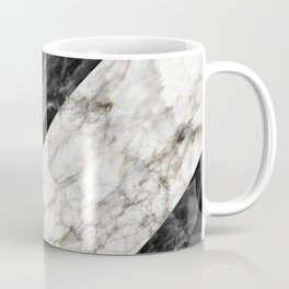 Gold foil white black marble #4 Coffee Mug