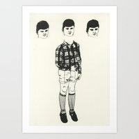 socks Art Prints featuring Socks by Estelle Morris Illustration