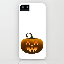 Cute halloween pumpkin iPhone Case