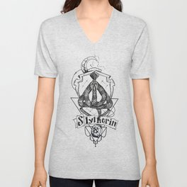 The Cunning House of Slytherin Unisex V-Neck