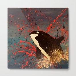 Whale Outbreak Metal Print
