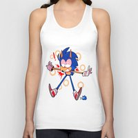 sonic Tank Tops featuring sonic by Kai L.