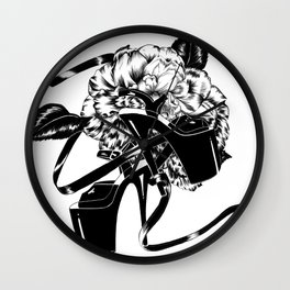 Dancing Shoes (Black) Wall Clock