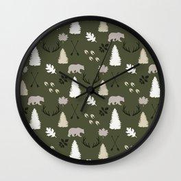 Woodland - Evergreen Wall Clock