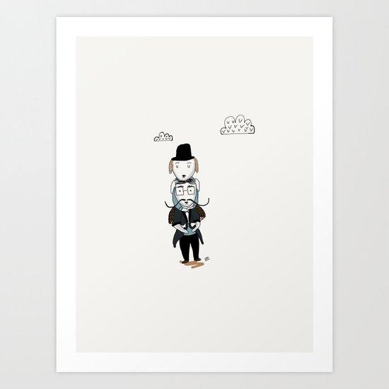 piggy back rides Art Print