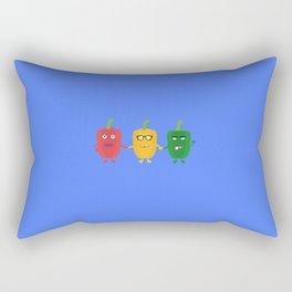 Three Capsicums Rectangular Pillow