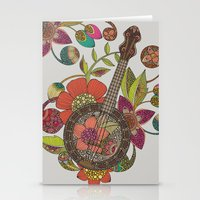 banjo Stationery Cards featuring Ever Banjo by Valentina Harper