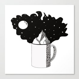 World in your cup Canvas Print