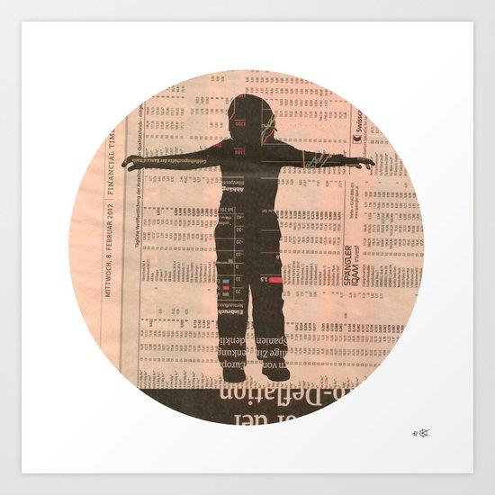 Untitled Boy 3 Collage Art Print