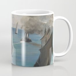 Édouard Manet - Steamboat Leaving Boulogne Coffee Mug