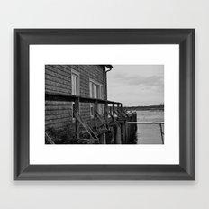Mossy Pier Framed Art Print