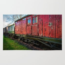 Old Train Wagon Rug