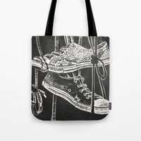 converse Tote Bags featuring Converse by JOHNSAWVEL