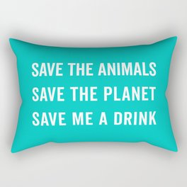 Save Me A Drink Funny Quote Rectangular Pillow