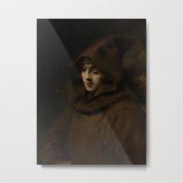 Rembrandt's Son Titus in a Monk's Habit Metal Print