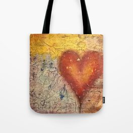 A Frayed Heart Tote Bag