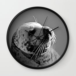 Howth Harbour Seal Wall Clock