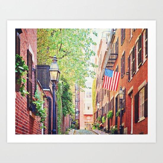 Historic Acorn Street, Beacon Hill Art Print