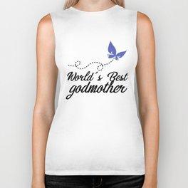 world is best godmother black for shirt jesus Biker Tank
