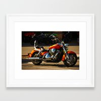 moto Framed Art Prints featuring MOTO by KimberlySS