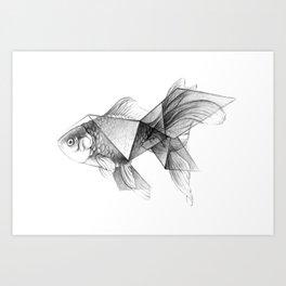 Goldfish Origami Art Print
