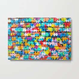 Rainbow Puzzle Metal Print