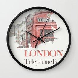 London telephone box Wall Clock