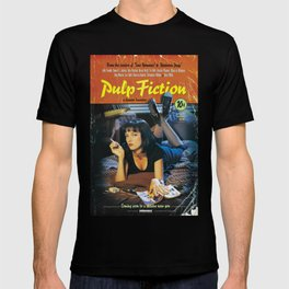 Pulp Fiction Movie Poster, Written And Directed By Quentin Tarantino Artwork, Posters, Prints, Tshir T-shirt