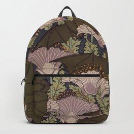 Vintage Art Deco Bat and Flowers Backpack