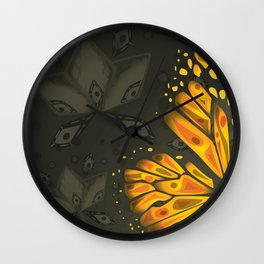 Incomplete - Monarch Butterfly Wall Clock