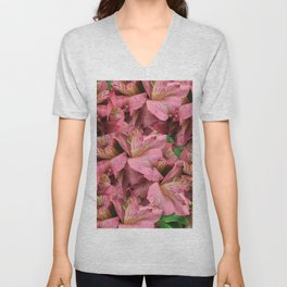 Cranberry Lilies Unisex V-Neck