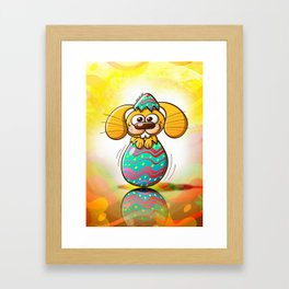 The Birth of an Easter Bunny Framed Art Print