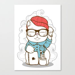 Hipster Kitty Canvas Print