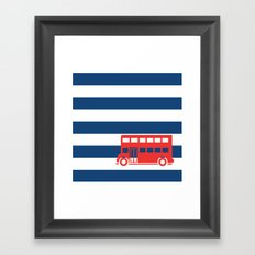 British Double Decker Bus Framed Art Print