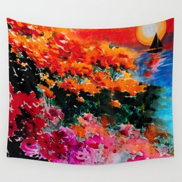 Sunsets Bloom Wall Tapestry