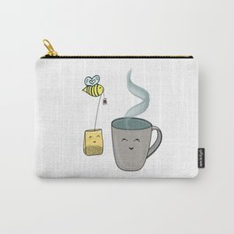 Tea Time with a Sweet Honeybee Carry-All Pouch