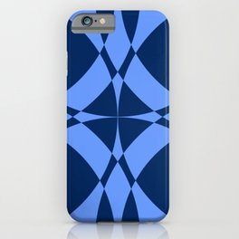 Abstract Circles - Sapphire iPhone Case