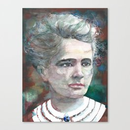 MARIE CURIE - watercolor portrait.2 Canvas Print