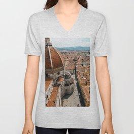 Beautiful Firenze, Basilica di Santa Maria, Duomo || Europe, City Photography, Travel, Art Print Unisex V-Neck