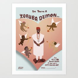 Yoruba Demon Valentine's Art Print