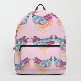 Pretty Pink Colorful Chickens Backpack