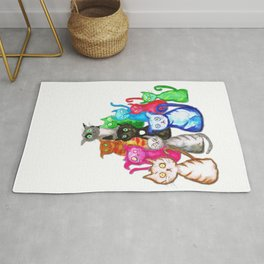 Gang of cats Rug
