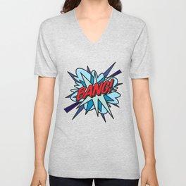 Comic Book Pop Art BANG! Unisex V-Neck