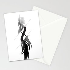 Infinity Feather Stationery Cards
