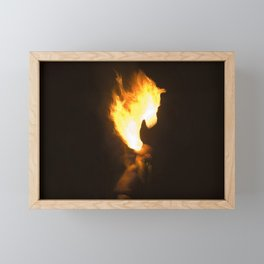 Horse Head of Fire Framed Mini Art Print