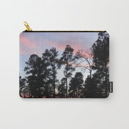 Pastel Sunset Black Trees Carry-All Pouch