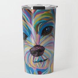 Colorful Shih tzu Painting Travel Mug