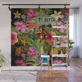 Tropical Vintage Exotic Jungle Beach Party Wall Mural