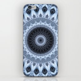 Silver and gray mandala iPhone Skin