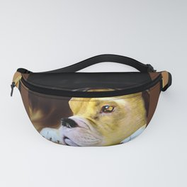 Boxer Thinking Things Over Fanny Pack